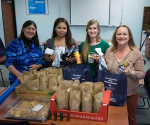 Monterey District Employees Preparing Gift Bags for the Carmel Homeless Shelter