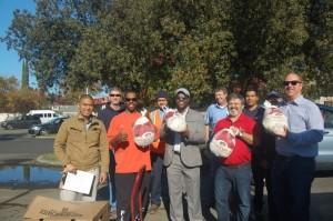 California American Water Staff Delivering Turkeys