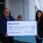 California Water Service Company Presenting Gift Checks for Holiday Meals