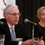 Joe Caves, Conservation Strategy Group, and Denise Kruger, Golden State Water Company [Photo Source: Capitol Weekly]