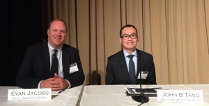 Evan Jacobs (left), External Affairs Manager, California American Water, and John Tang, Vice President, Government Relations and Corporate Communications, San Jose Water Company – Joint Presentation on the Value of Water and the California Drought at the Western Conference of Public Service Commission's Annual Meeting in Phoenix in Early June