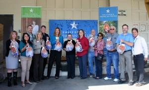 California American Water's Operation Gobble Event in Ventura County on November 24, 2015, with Assembly Member Jacqui Irwin.